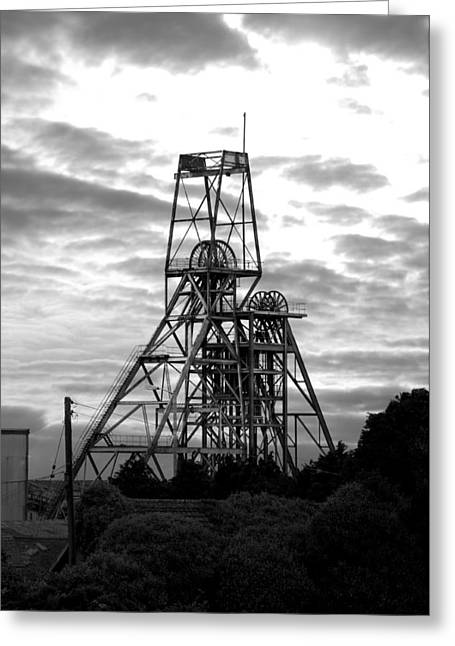 Camborne Greeting Cards - South Crofty Tin Mine Greeting Card by Paul Howarth