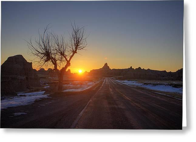 South Dakota Badlands Greeting Card by Mark Duffy