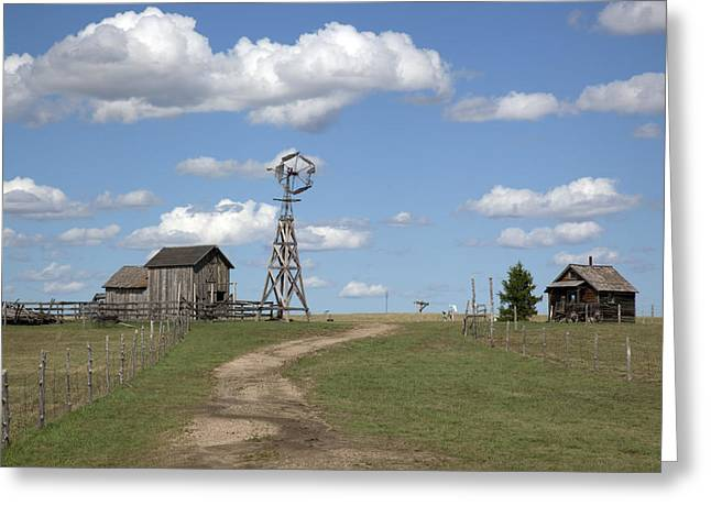 Highsmith Greeting Cards - South Dakota: Windmill Greeting Card by Granger