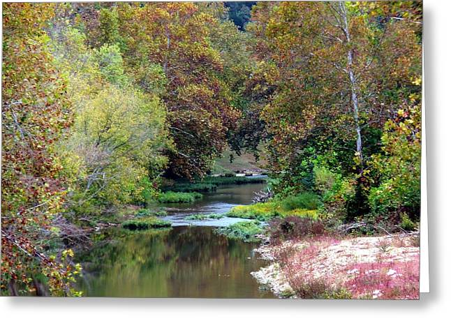 Kay Sawyer Greeting Cards - South Harpeth Greeting Card by Kay Sawyer