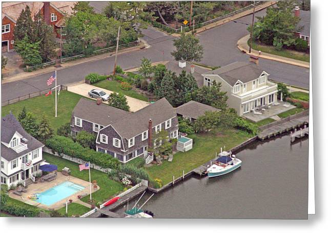Pearson Aerial Greeting Cards - South Lagoon House Mantoloking New Jersey Greeting Card by Duncan Pearson