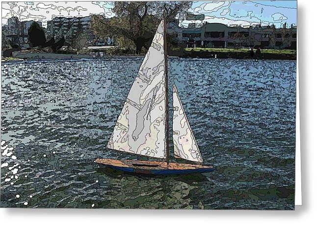 Lake Union Greeting Cards - South Lake Union Sail Greeting Card by Tim Allen