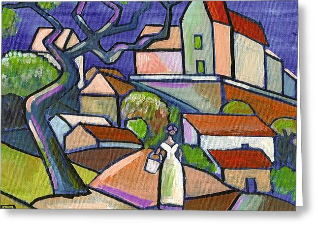 South Of France Mixed Media Greeting Cards - South of france Greeting Card by Peter  McPartlin