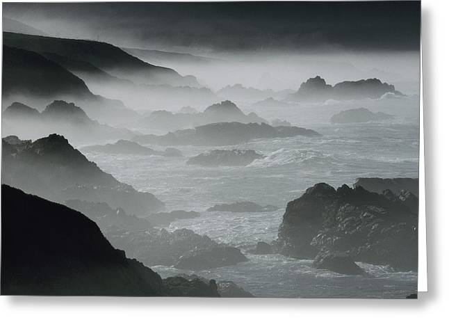 Big Sur Greeting Cards - South Of Monterey Bay, The Surf Crashes Greeting Card by Jonathan Blair