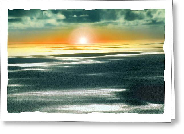 Pacific Pyrography Greeting Cards - South Pacific Sunset Greeting Card by Noah Brooks