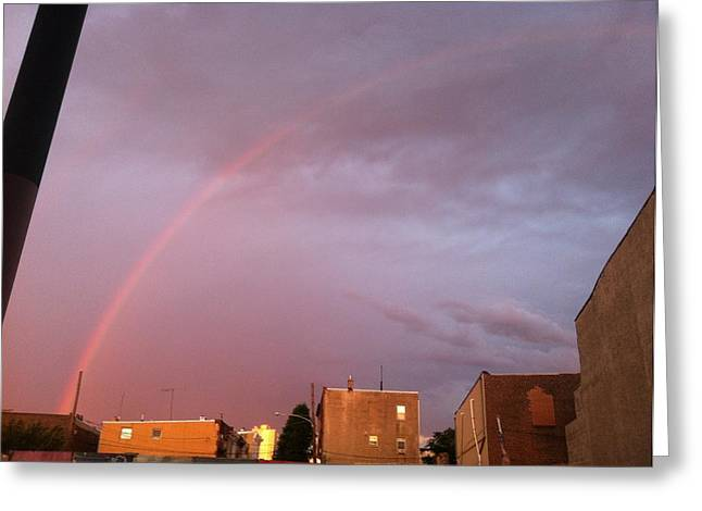 South Philadelphia Greeting Cards - South Philly Rainbow Greeting Card by J D