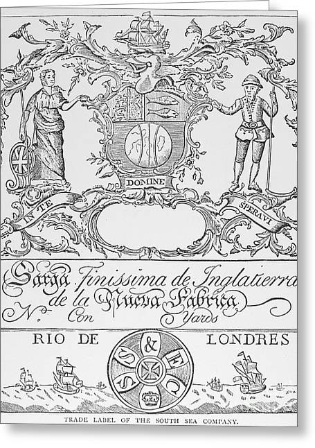 1711 Greeting Cards - South Sea Company, 1711 Greeting Card by Granger