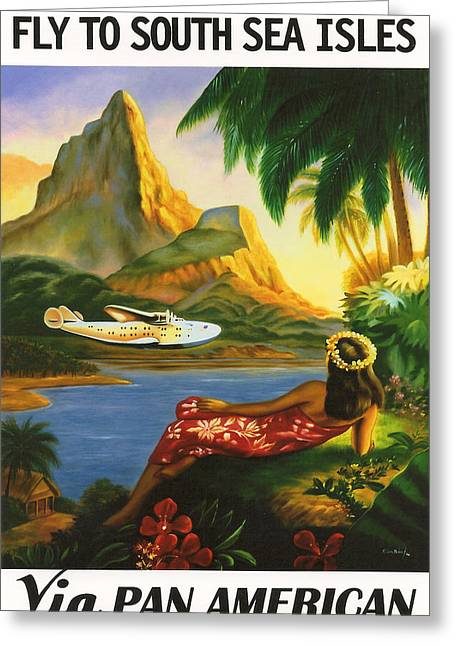 Tahiti Greeting Cards - South Sea Isles Greeting Card by Nomad Art And  Design