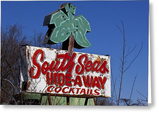 Old South Greeting Cards - South Seas Sign Greeting Card by Garry Gay