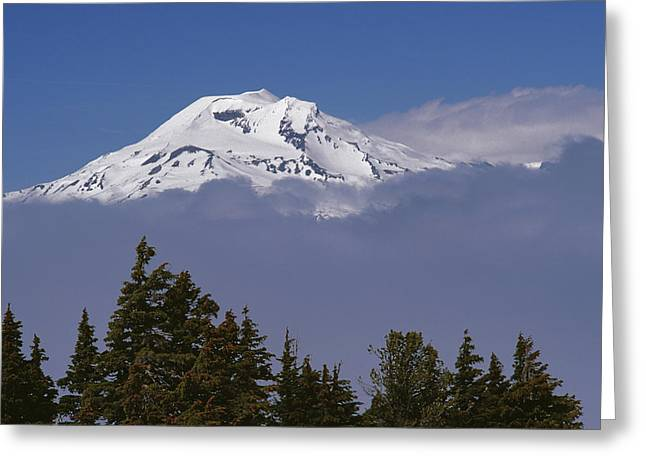 Deschutes Greeting Cards - South Sister Mountain In The Cascade Greeting Card by Gordon Wiltsie