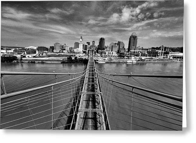 Cincinnati Skyline Greeting Cards - South Tower Greeting Card by Russell Todd