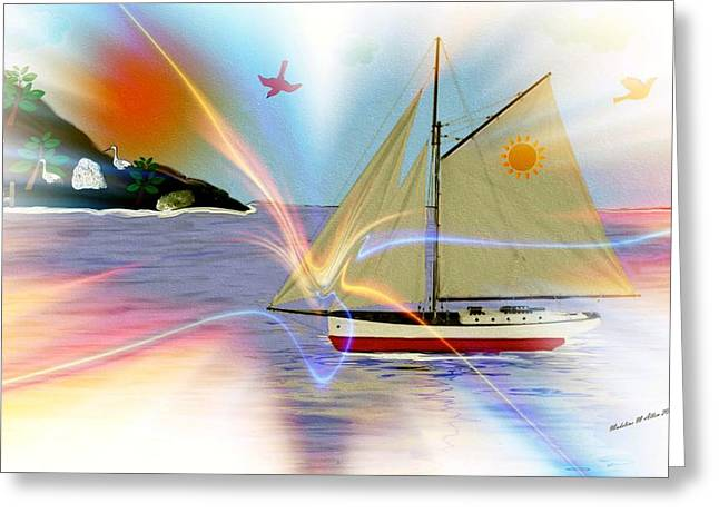 Water Vessels Digital Art Greeting Cards - South Winds Greeting Card by Madeline  Allen - SmudgeArt