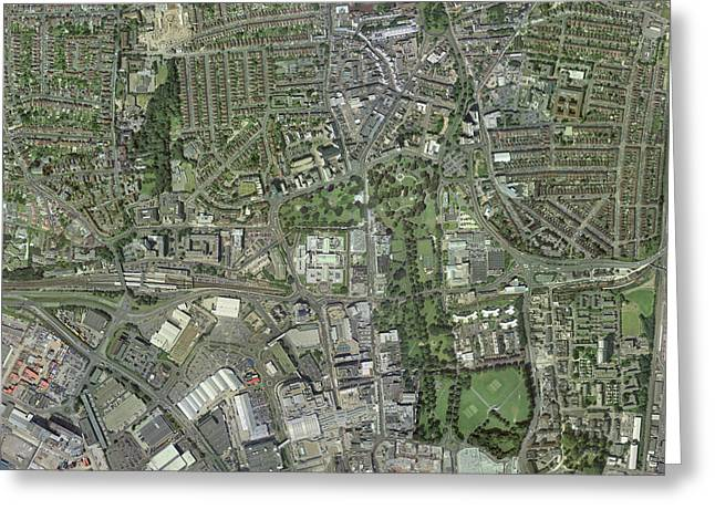 Southampton,uk, Aerial Image Greeting Card by Getmapping Plc