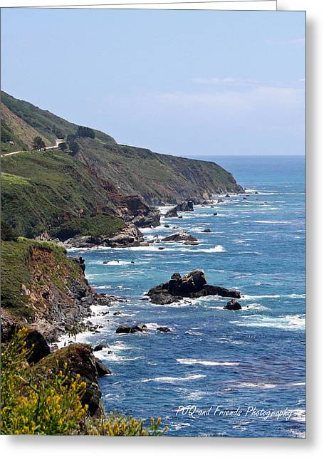 Pfeiffer Beach Greeting Cards - Southbound on PCH1 Greeting Card by PJQandFriends Photography