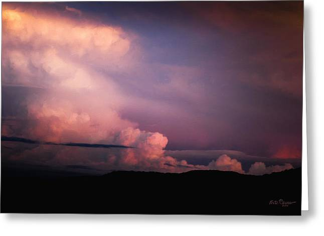 Storm Framed Prints Digital Greeting Cards - Southeast clouds blowing in    8624 Greeting Card by Fritz Ozuna