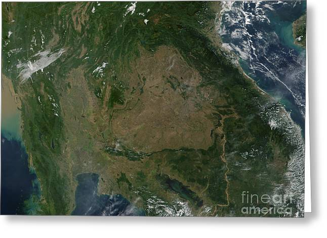 Deforestation Greeting Cards - Southeastern Asia Greeting Card by Stocktrek Images