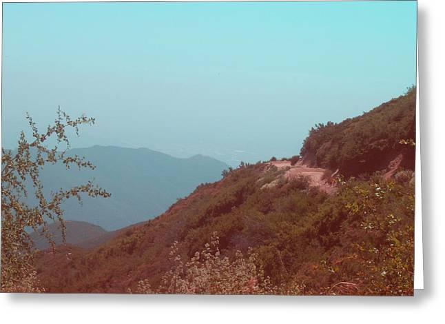 Southern California Mountains Greeting Card by Naxart Studio