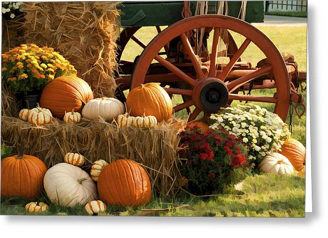 Harvestime Greeting Cards - Southern Harvestime Display Greeting Card by Kathy Clark