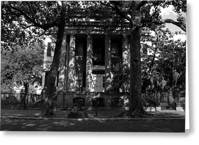 Historic Home Greeting Cards - Southern Mansion Greeting Card by David Lee Thompson