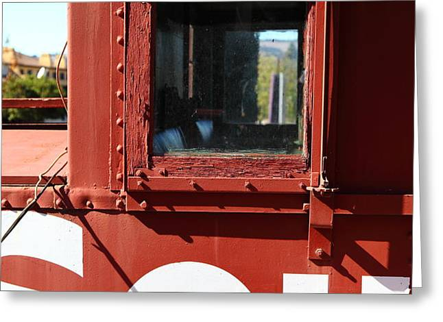 Southern Pacific Caboose - 5D19235 Greeting Card by Wingsdomain Art and Photography