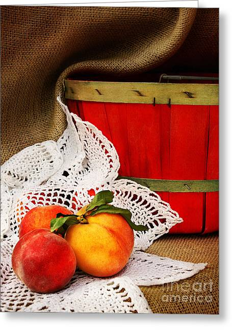 Southern Peaches Greeting Card by Cheryl Davis