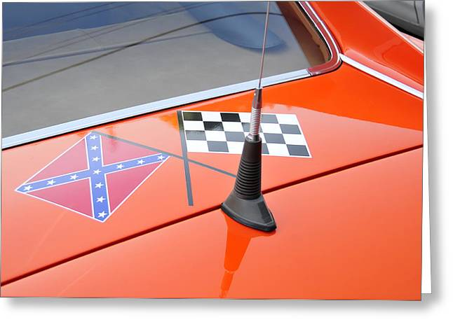 Confederate Flag Greeting Cards - Southern racing flags Greeting Card by David Lee Thompson
