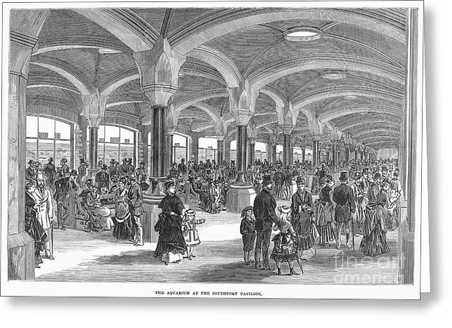 1874 Greeting Cards - Southport Pavilion, 1874 Greeting Card by Granger
