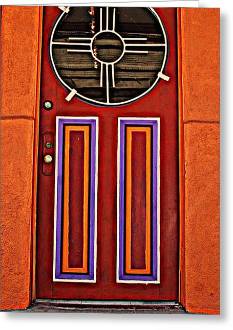 Silver City Greeting Cards - Southwest Architecture Greeting Card by Susanne Van Hulst