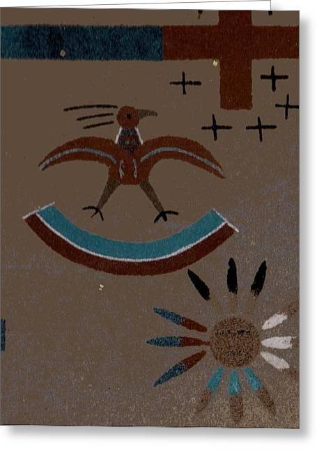 Southwest Designs Greeting Card by Anne-Elizabeth Whiteway
