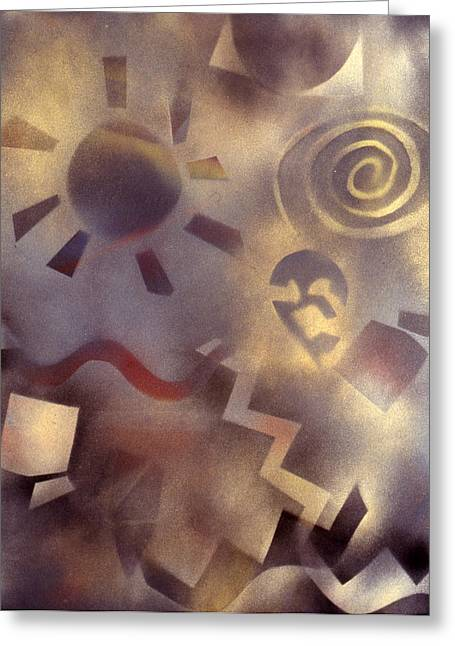 Ghost Like Greeting Cards - Southwest Dreams 2 Greeting Card by Susan  Brasch