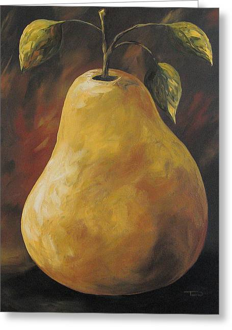 Brown Pears Greeting Cards - Southwest Pear Greeting Card by Torrie Smiley
