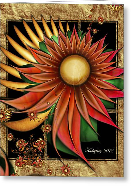 Karlajkitty Digital Greeting Cards - Southwest Sunrise Greeting Card by Karla White