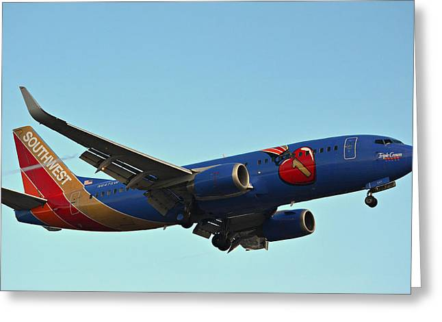 Jet Greeting Cards - Southwest Triple Crown Greeting Card by Fraida Gutovich