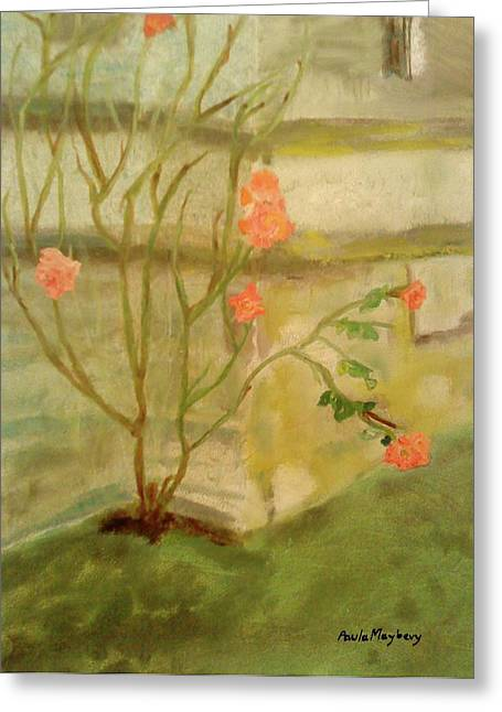 Southwick Greeting Cards - Southwick Hall Rose Greeting Card by Paula Maybery