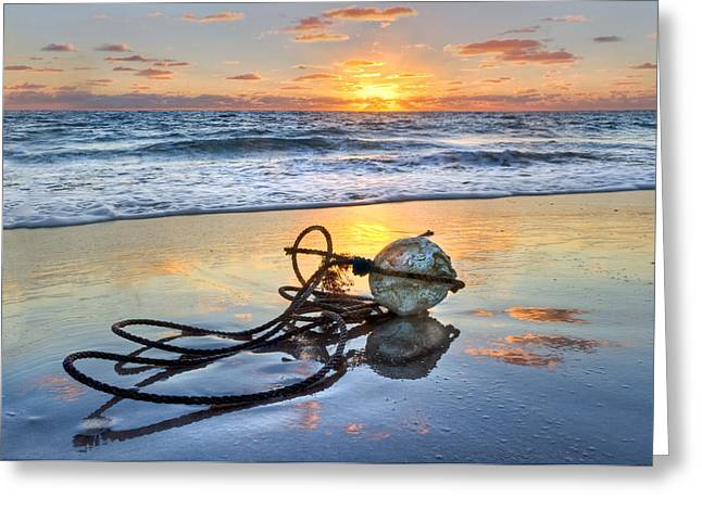 Surfing Photos Greeting Cards - Souvenirs Greeting Card by Debra and Dave Vanderlaan
