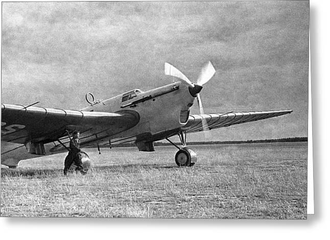 Tupolev Greeting Cards - Soviet Ant-25 Transpolar Aircraft, 1937 Greeting Card by Ria Novosti