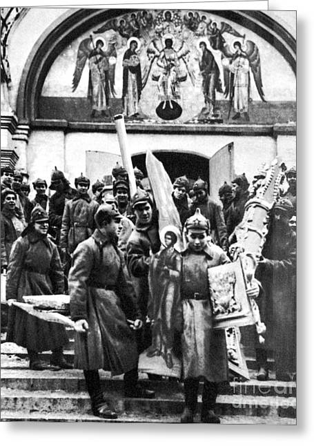 Russian Civil War Greeting Cards - Soviet Anti-religion Policy Greeting Card by Granger