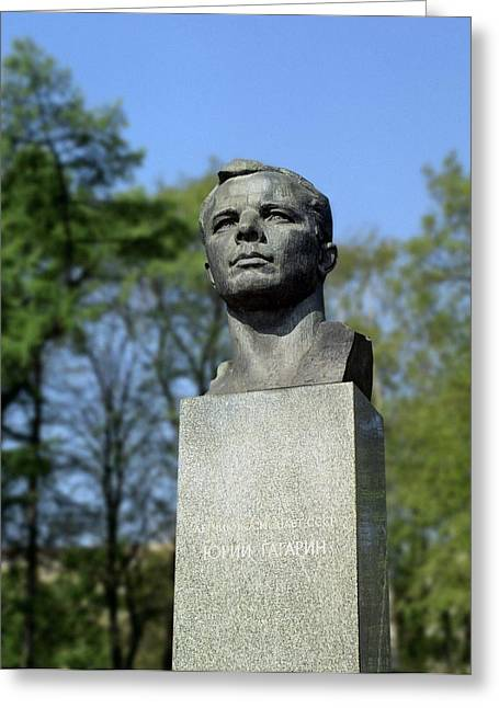 1900s Portraits Greeting Cards - Soviet Monument To Yuri Gagarin Greeting Card by Detlev Van Ravenswaay