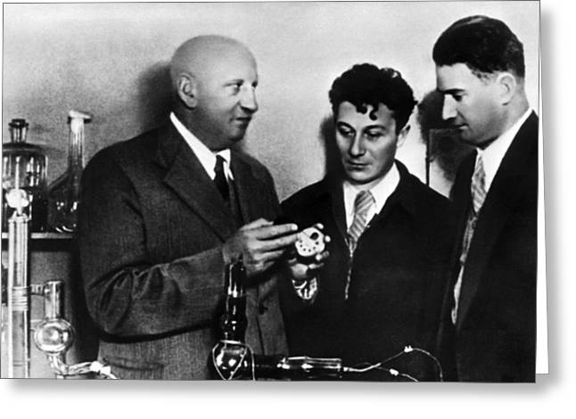 European Particle Physics Lab Greeting Cards - Soviet Physicists, Moscow, 1977 Greeting Card by Ria Novosti
