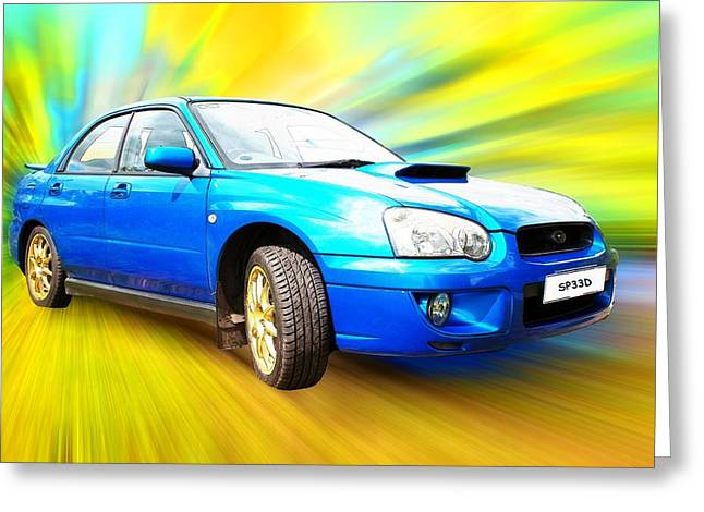 Impreza Greeting Cards - Sp33d Greeting Card by Sharon Lisa Clarke