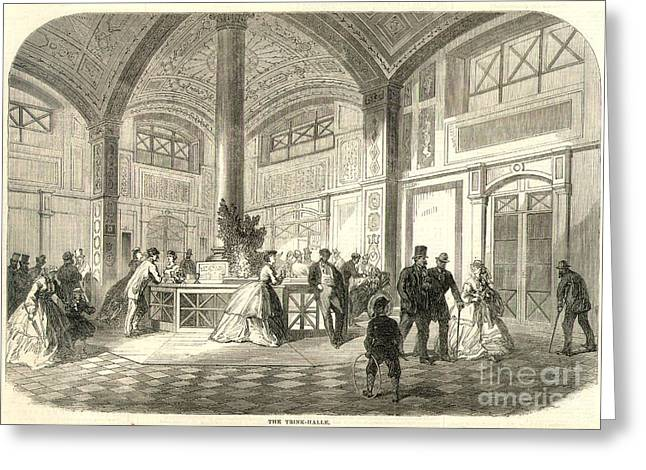 Baden-baden Greeting Cards - Spa: Baden-baden, 1865 Greeting Card by Granger