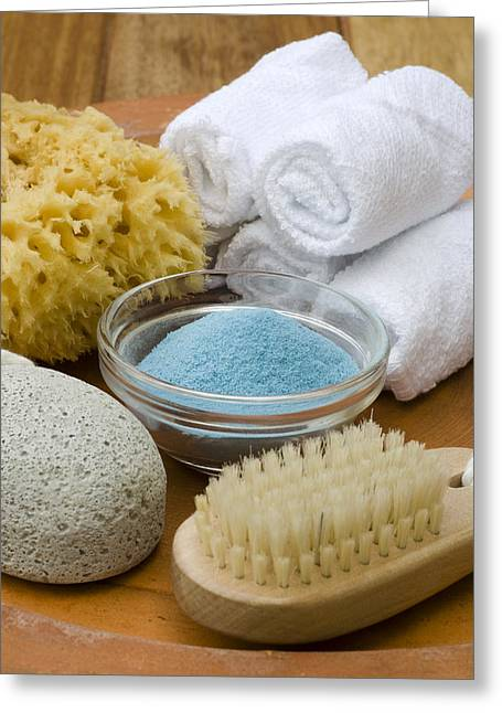 Skincare Greeting Cards - Spa still life Greeting Card by Frank Tschakert