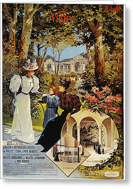 Vichy Greeting Cards - SPA: VICHY, FRANCE, 1890s Greeting Card by Granger