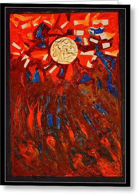 Space Abstraction-1 Greeting Card by Anand Swaroop Manchiraju