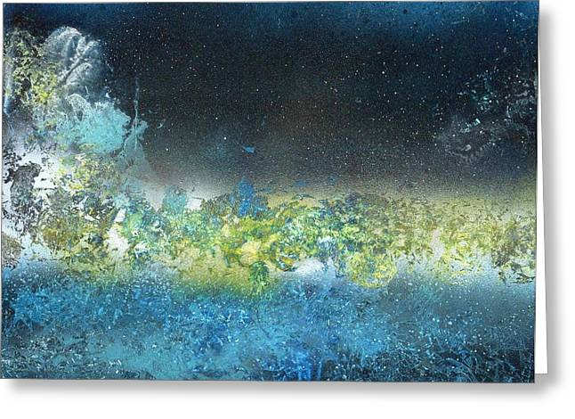 Limited Edition Mixed Media Greeting Cards - Space Bridge  Greeting Card by Anna Randolph