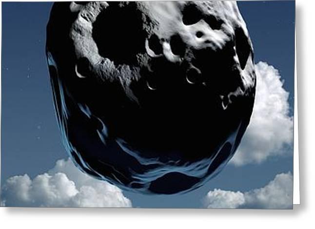 Space Exploration, Conceptual Image Greeting Card by Detlev Van Ravenswaay
