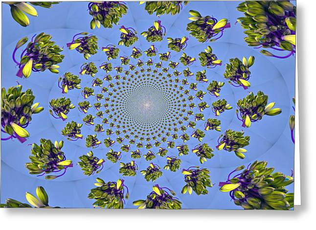 Hypnotic Greeting Cards - Space Flowers Greeting Card by Rose  Hill