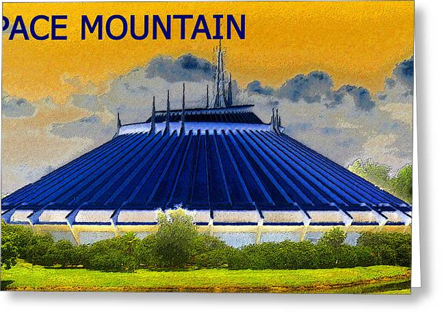Space Mountain Greeting Card by David Lee Thompson