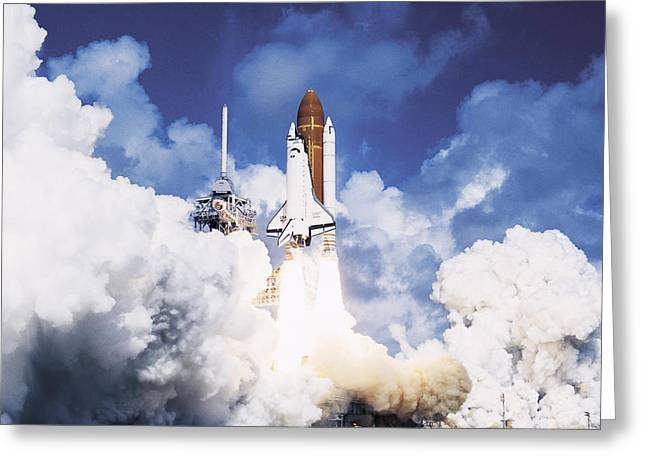 Nasa Space Program Greeting Cards - Space Shuttle Atlantis Greeting Card by Nasa