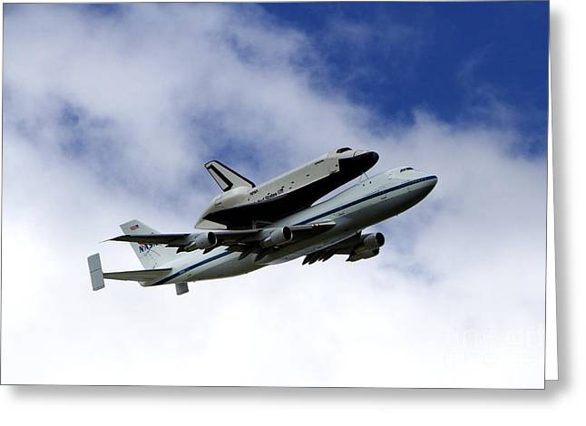 Space Shuttle Enterprise Greeting Card by Thanh Tran